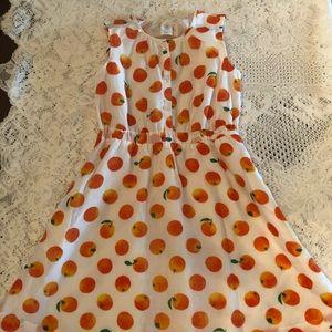 Crewcuts Sz 10 dress with oranges Like new